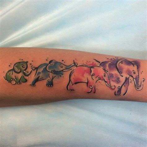 family tattoo mooresville nc 25 best ideas about watercolor elephant tattoos on