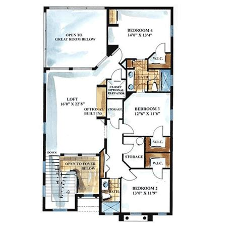 key west style home floor plans key west style 66066gw 1st floor master suite cad
