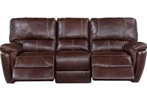 Recliner Leather Sofa Browning Bluff Brown Leather Power Reclining Sofa Leather Sofas Brown