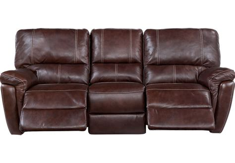 Browning Bluff Brown Leather Power Reclining Sofa