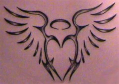 angel wings with halo tattoo designs tribal wing tattoos