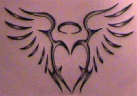 tribal angel tattoo designs tribal wing tattoos