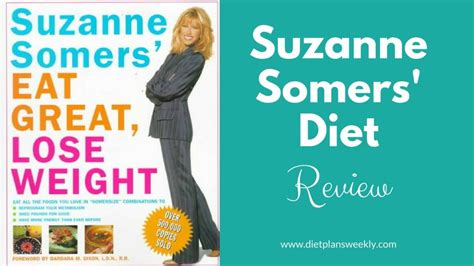 Suzanne Somers Detox Dielt the suzanne somers diet review diet plans weekly