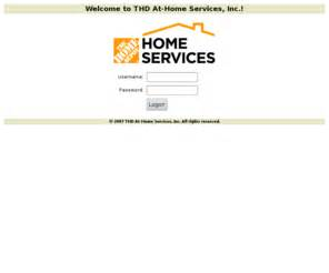 thdathomeservices thd at home services inc