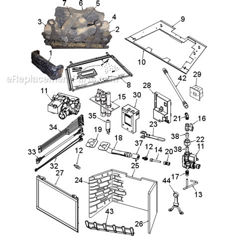 gas fireplace repair parts vermont vli31 parts list and diagram ereplacementparts