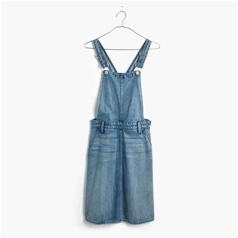 Denim Jumper madewell denim jumper dress in blue lyst
