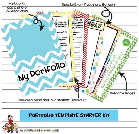 Child Portfolio Templates Starter Kit Children Templates And Etsy Child Care Portfolio Templates