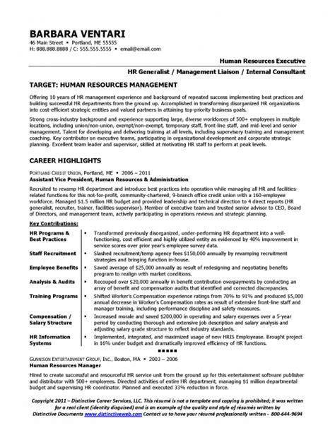 top human resources resume templates samples throughout human