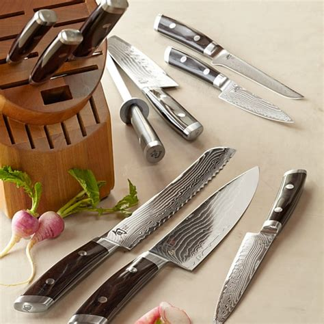 shun knife set shun kaji 11 knife block set williams sonoma