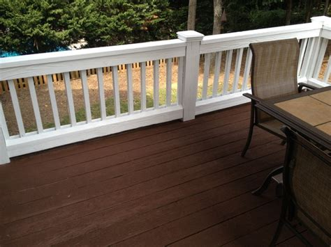 exterior painting  staining traditional deck