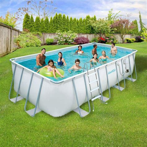7 x 4ft pool summer waves elite 9 ft x 18 ft rectangular 52 in deep