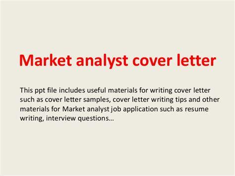 market researcher cover letter market analyst cover letter