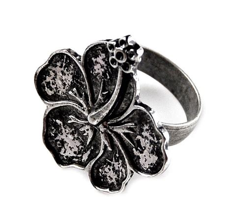 hibiscus flower ring accessories rings s