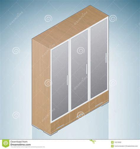 Bedroom Cupboard Glass Doors Bedroom Cupboard With Glass Doors Stock Photography