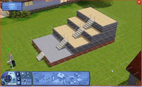 mod  sims    front porch stairs  foundation