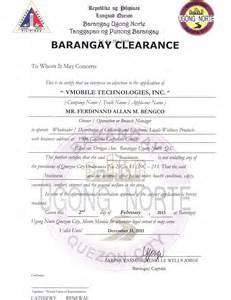 Sample Of Barangay Certification Letter Loadxtreme Resources