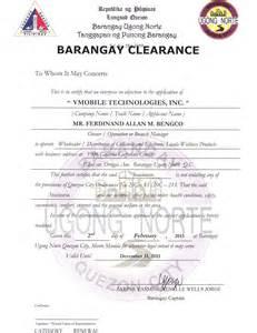 Sample Barangay Certification Letter Start Of Something Big With Team Cherubs Of Titan S Vmobile