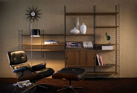 Classic Sofas And Chairs by String Shelving System Homage