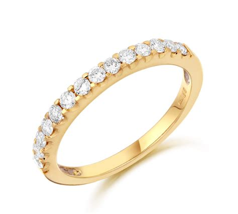 8white yellow gold eternity ring gold drop armagh gold