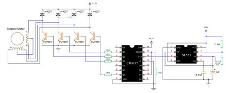 stepper motor circuit diagram wiring diagram schemes