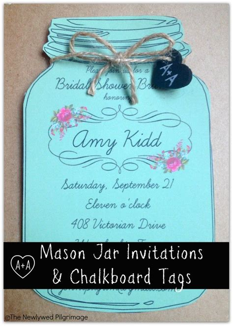 free chalkboard bridal shower invitation templates jar invitations and chalkboard tags for weddings or