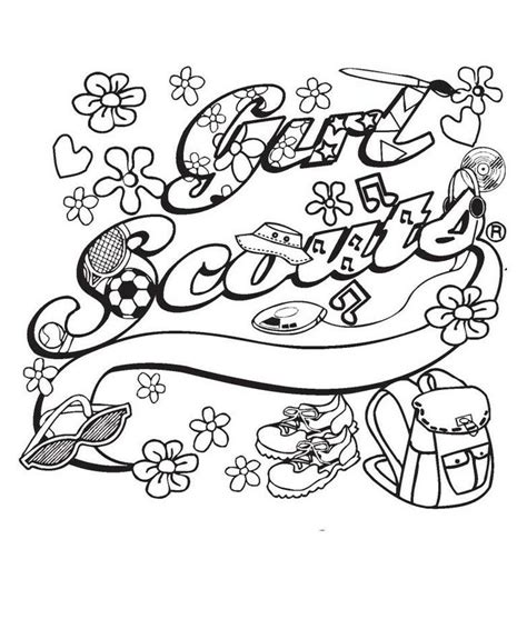 coloring pages for brownie girl scouts 70 best houppelande images on pinterest girl scout