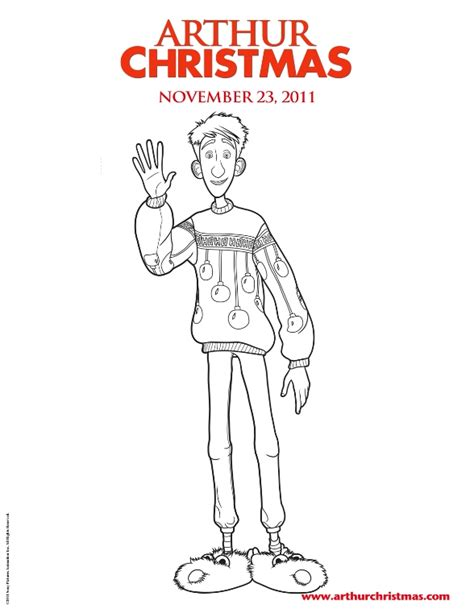 kids n fun com 11 coloring pages of arthur christmas