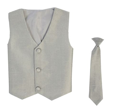 toddler vest and tie gray