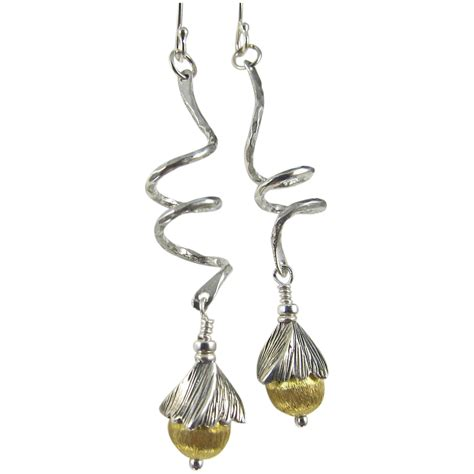 drop swing drop earrings swing step sterling silver vermeil