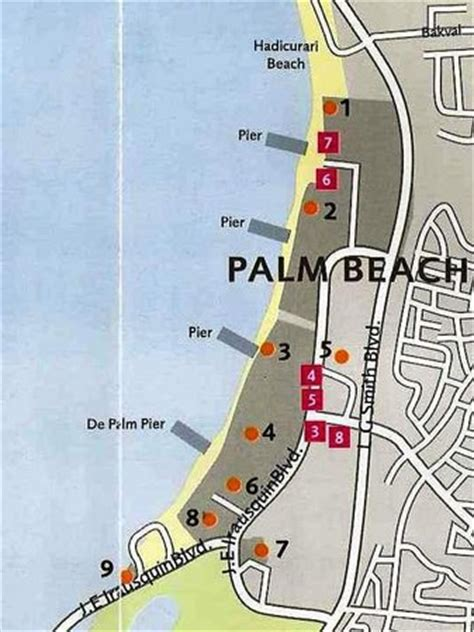 aruba eagle resort map map palm of eagle picture of