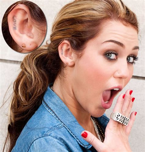 miley cyrus s tattoos miley cyrus tattoos pictures images pics photos of tattoos