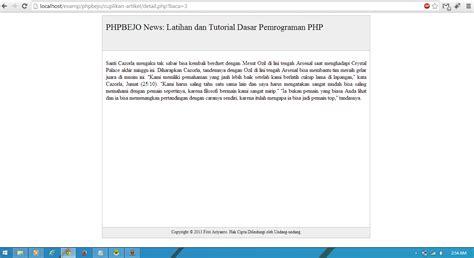 membuat artikel php phpbejo membuat cuplikan artikel readmore atau baca