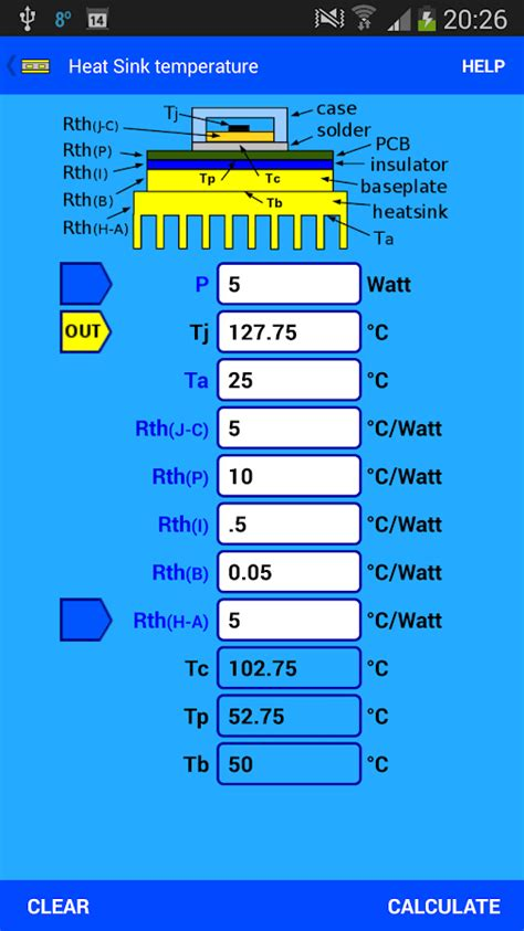 heat sink calculator pcb thermal calculator android apps on play