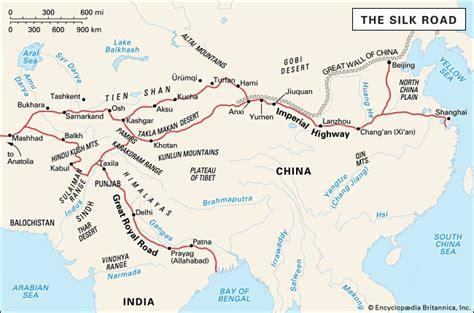 silk road map silk road facts history map britannica