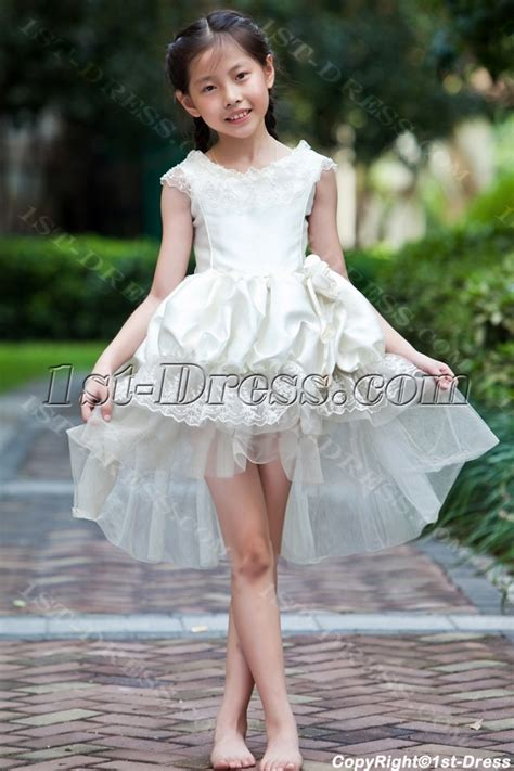 Unique High low Hem Cheap Flower Girl Dresses:1st dress.com