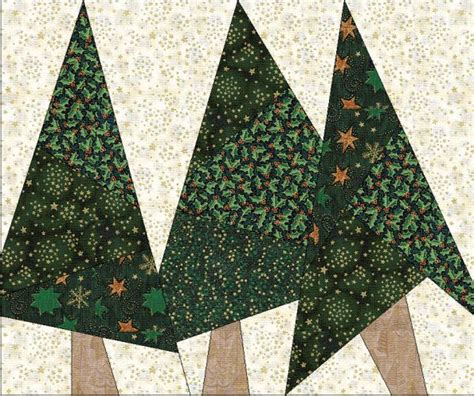 quilt pattern pine tree card tree quilts paper piecing pinterest pine