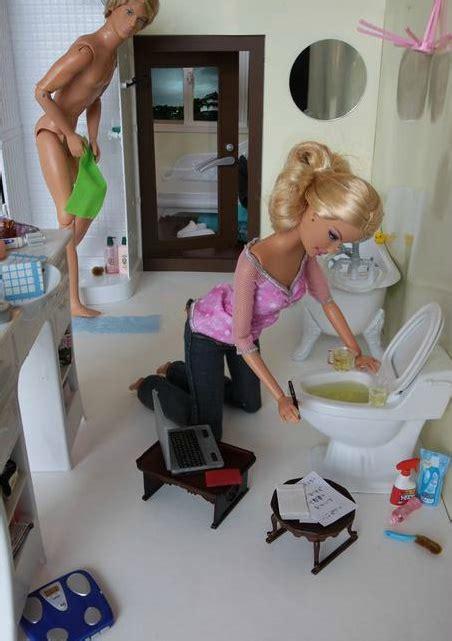 barbie and ken in bathroom barbie ken fun pinterest
