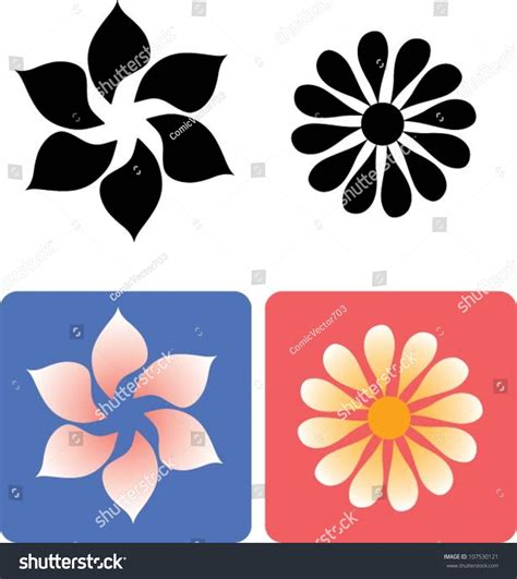 any design of flowers flower 1 floral element for any design easy to change