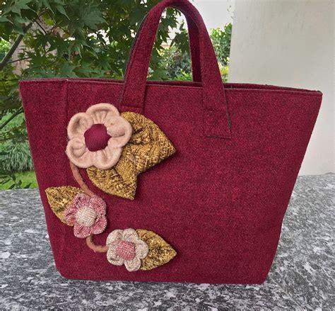 fiori cotta borsa in cotta con fiori donna borse di
