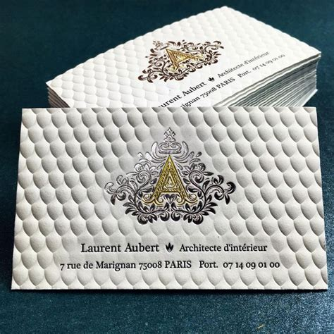 Luxury 3D Embossed Business Card with Gold Foil Printing   JukeBoxPrint.com
