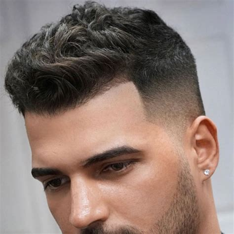 curly hairstyles buzz cut crew cut taper fade cool mens hair men s crew cut hairstyle