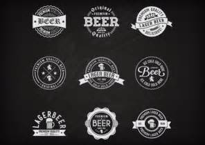 retro label set of beer vector free download