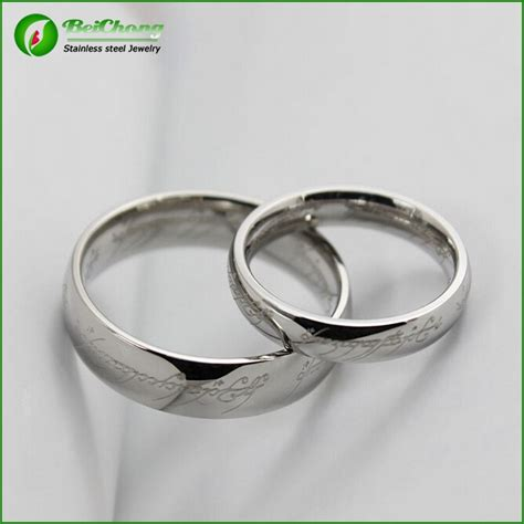 fashion wedding ring wholesale plain silver ring  men