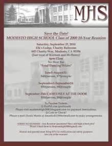 high school reunion invitation templates modesto high school class of 2000 reunion page mhs 2000
