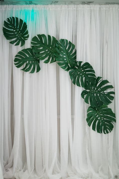 palm leaf curtains leaves shower curtain curtains ideas how special offer
