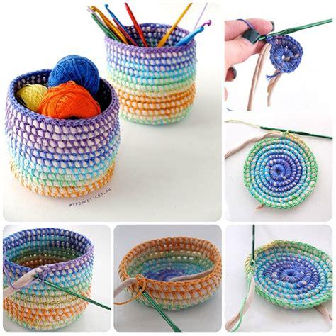 fiori all uncinetto con fettuccia come fare cestini a uncinetto con cotone e fettuccia