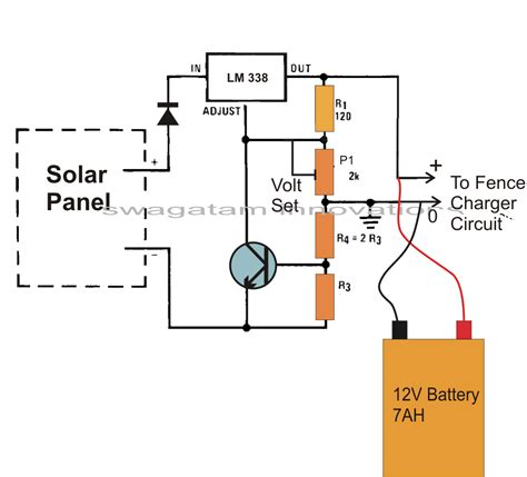 solar battery charge controller circuit diagram make this solar powered fence charger circuit