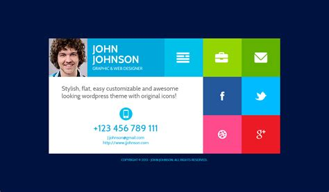 themeforest visiting card flatcv vcard resume psd template by themerex themeforest