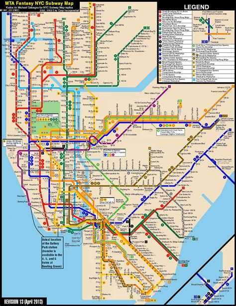 ny city subway map new york city subway map revision 13 by ecinc2xxx on deviantart