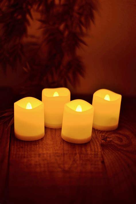led candles led votive candles ivory set of 4